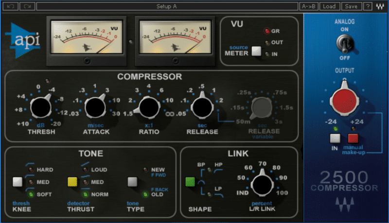 audio compressor used when mixing music