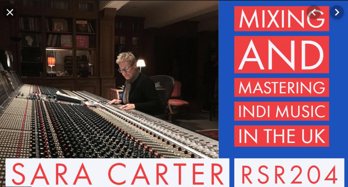 sara carter mixing music on the recording studio rockstars podcast